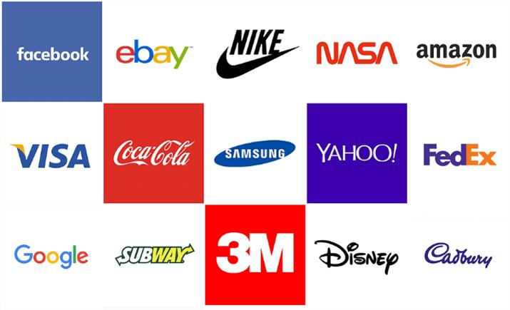 Примеры логотипов, зарегистрированных в качестве товарных знаков