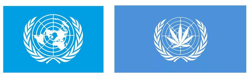 Имитация флага ООН