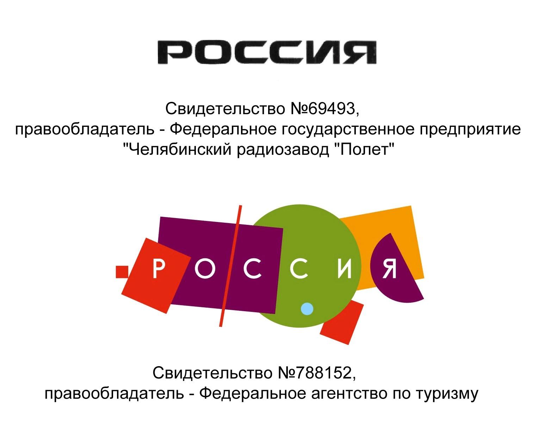 Примеры зарегистрированных товарных знаков со словом «Россия». Правообладатели – только федеральные учреждения