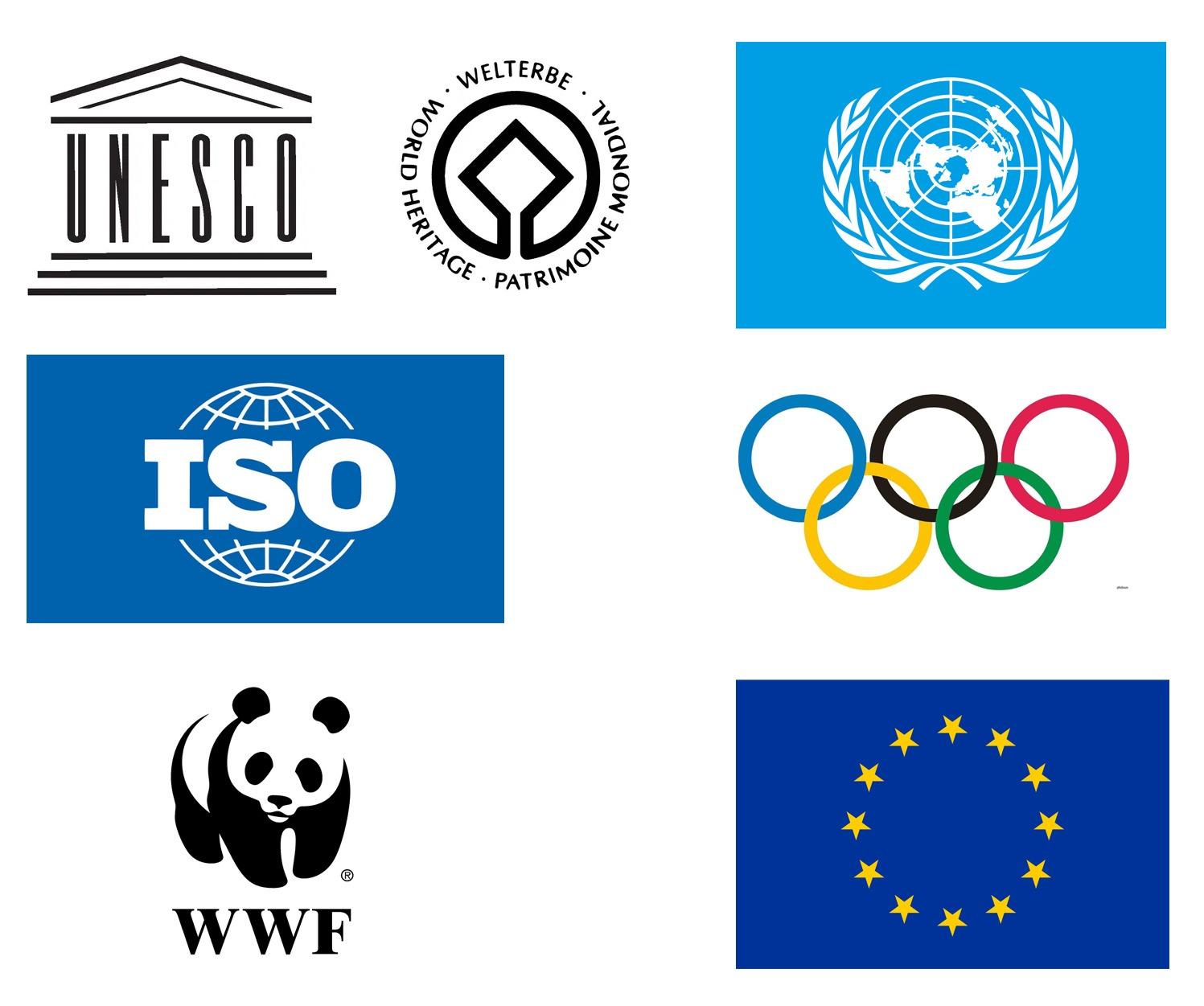 Примеры международной символики, охраняемой Парижской конвенцией по охране промышленной собственности