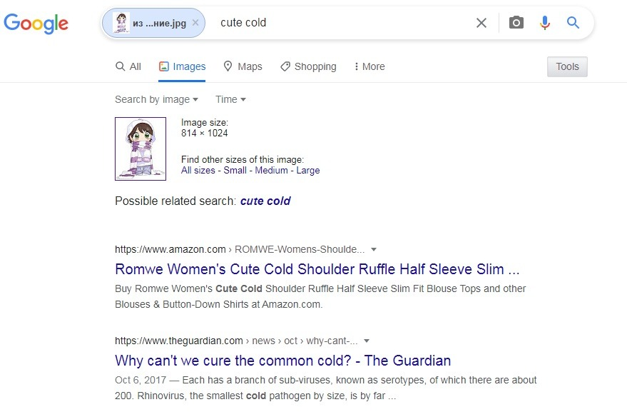 Поиск гугл по картинкам